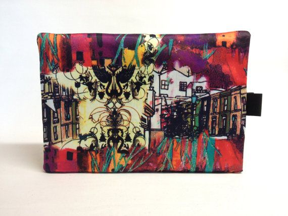 Retro Art Print Laptop/ipad Slipcover Soft Case Fully by QuiltyCo, $25.00