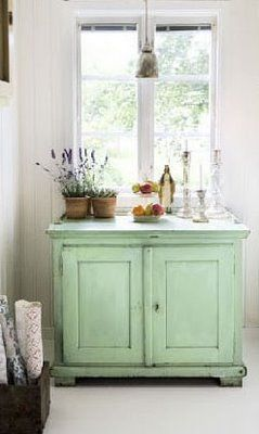 Georgous green painted chest