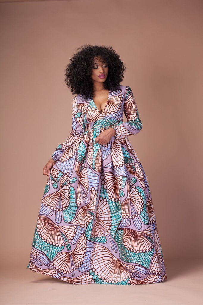 Tendance: robes en wax version manches longues - Pagnifik. African Print  FashionAfrican Print DressesAfrican ...