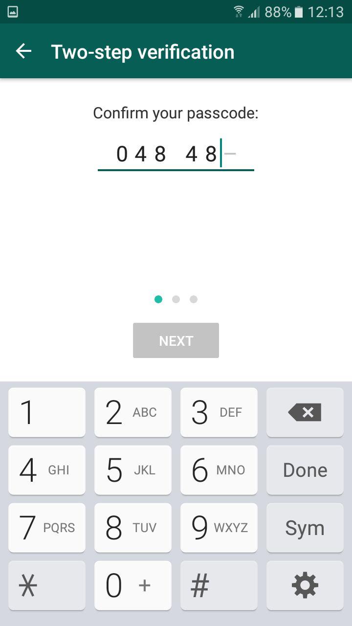 whatsapp TFA passcode