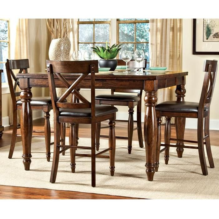 Hawthorne Furniture 7piece Kingston Counter Height Set Dining Room