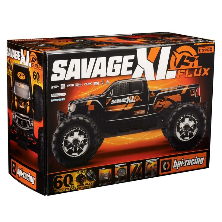 HPI Racing 1/8 Savage XL Flux 6S Brushless 4WD RTR (see fullscreen)