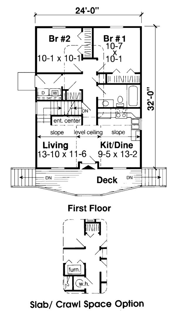 First Floor Plan Of Cabin Cottage House Plan   Cabin Ideas