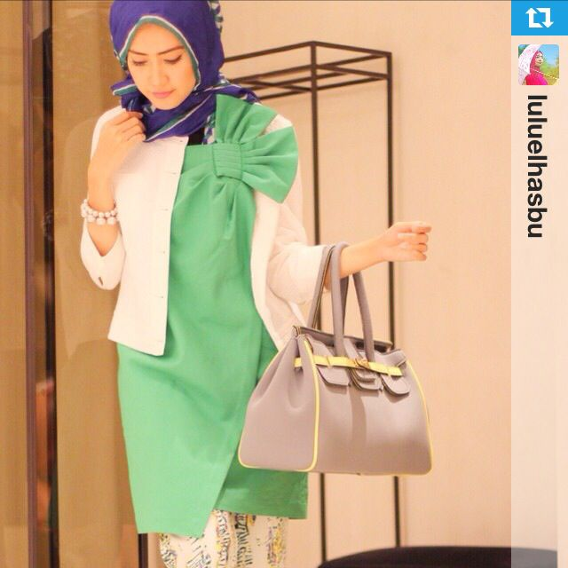 #Repost from @luluelhasbu: My Style for @iroo_indonesia - feminine & elegant #irooindonesia #hijab #hijaboftheday #hijabfashion #love #hijabilookbook #thehijabstyle #fashion #hijabmodesty #hijabstyle #hijabistyle #fashionhijabis #hijablife #hijabspiration #hijabdaily #hijablove #hijabswag #modestclothing #fashionmodesty #thehijabstyle