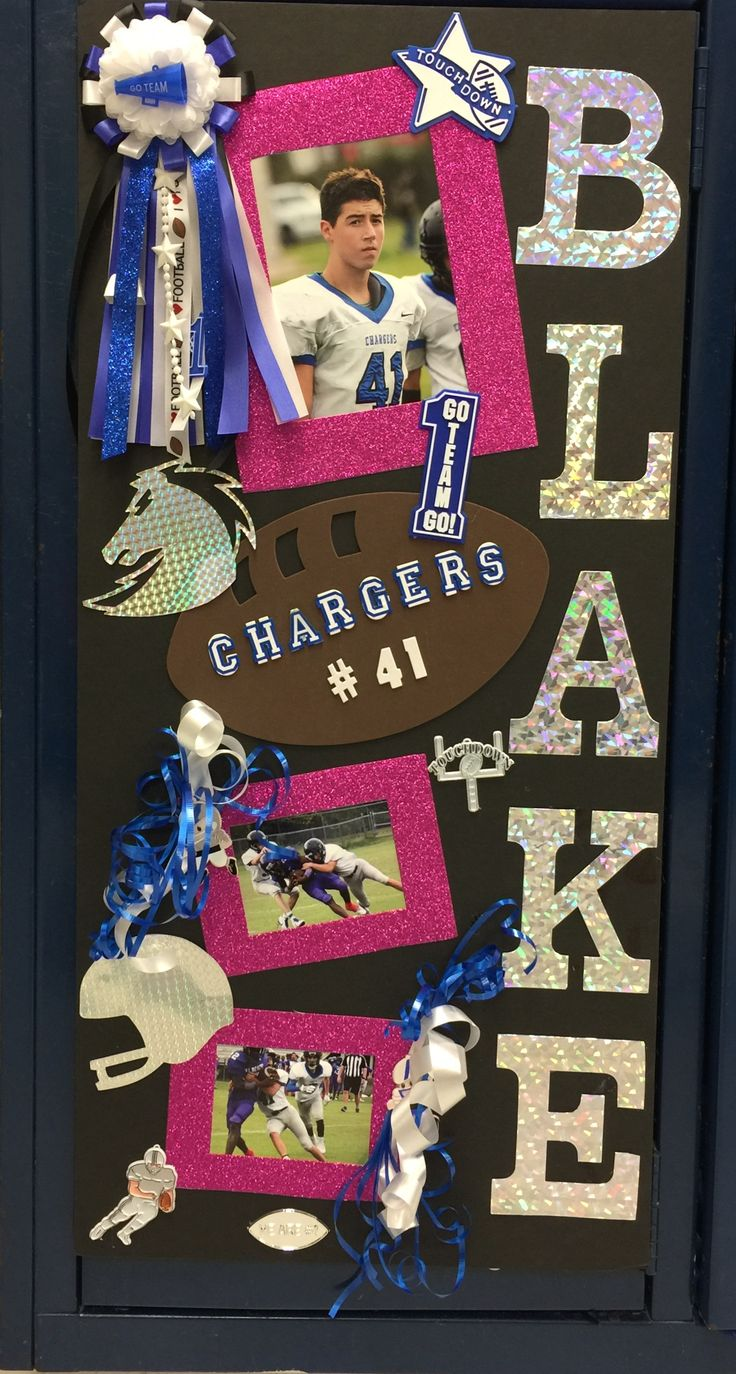 It's Homecoming Week!! 1st thing locker decorations I made this sign for my freshman player.  I added pink for breast cancer awareness  month.