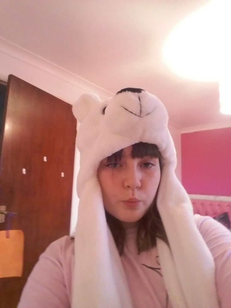 Me rocking my polar beer hat