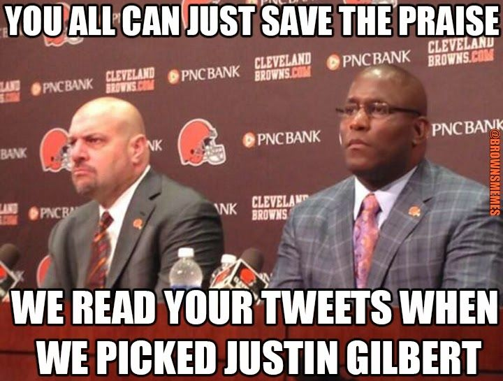 Mike Pettine Justin Gilbert Ray Farmer Cleveland Browns Memes Sports
