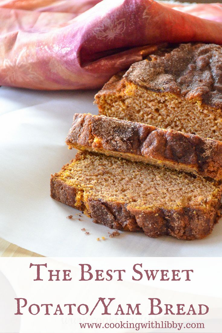 This recipe for Sweet Potato/Yam Bread is the perfect way to use up any left overs you may have. Yams can be substituted for sweet potatoes and vice versa.