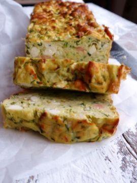 Smulpaapje kookt! - Hartige cake met courgette en zalm | Zucchinibread with salmon