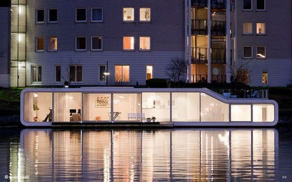 Houseboat in Amsterdam!Modern Houseboats, Lakes House, Houseboats Floating, 31 Architects, Architecture, Watervilla De, De Omval, Amsterdam, Dutch Design