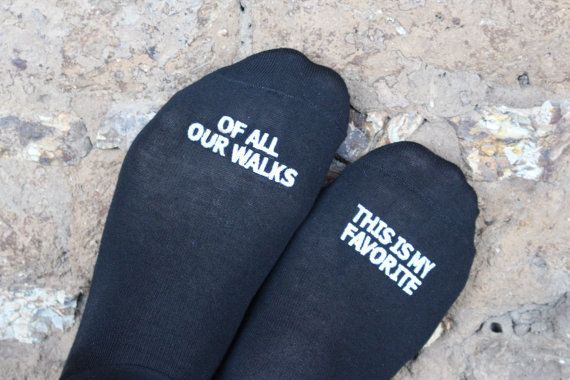 Father of the Bride Wedding Socks 'of all our walks this is my favorite' by GroomSocks  FOB gift, wedding gift, best wedding
