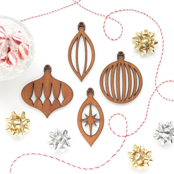 Our mid-century modern ornaments are timeless, sophisticated, and class up  any Christmas