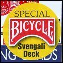Bicycle Svengali Deck - Red or Blue by Rock Ridge Magic. $7.95. A top magic seller! Blue Svengali Deck Force Card: Ace of Hearts or Queen of Clubs Red Svengali Deck Force Card: Seven of Spades or Jack of Diamonds