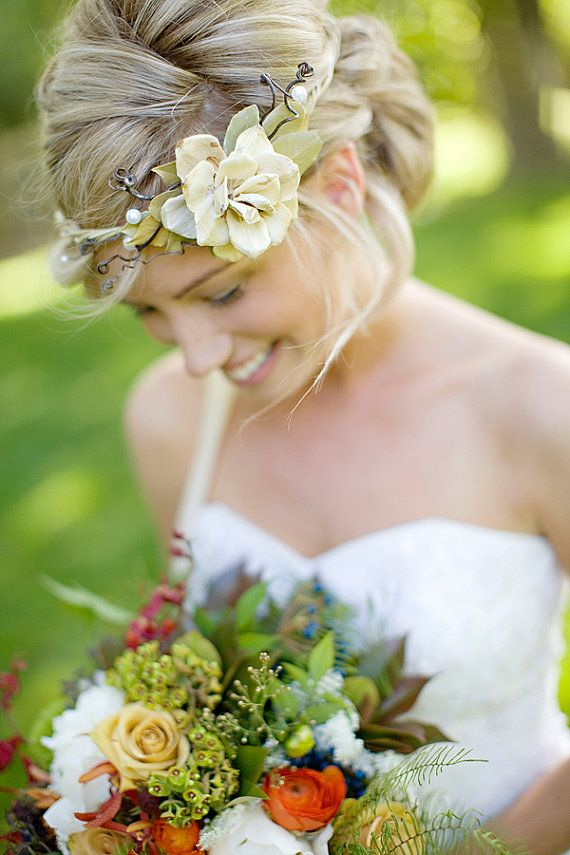Love this floral & ribbon crown. Just perfect!