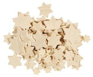 Stelle di legno-confezione mista, 70 pezzi
