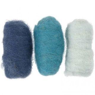 Farebné ovčie rúno 3 x 10g