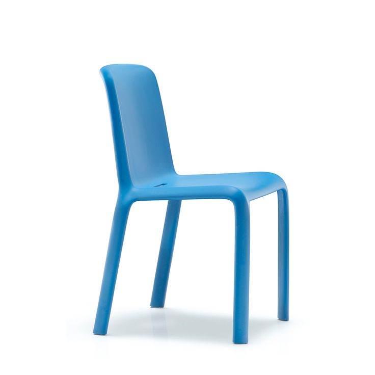 Modern injected polypropylene multi-purpose 'Snow' chair by Pedrali at My Italian Living Ltd