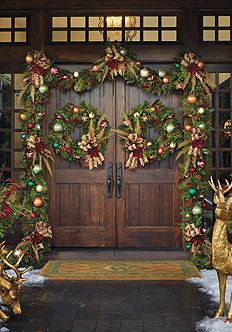 Christmas Decoration Collections   Front Porch Decor Frontgate