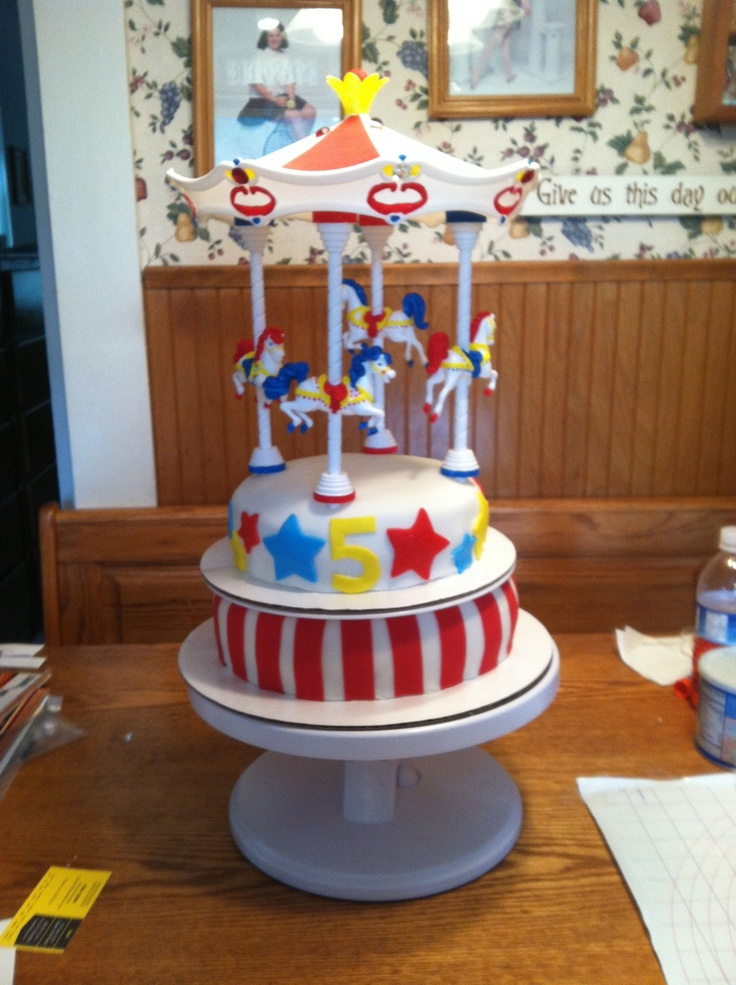 Carousel Cake For My Granddaughter S Quot Carnival Party Quot Is