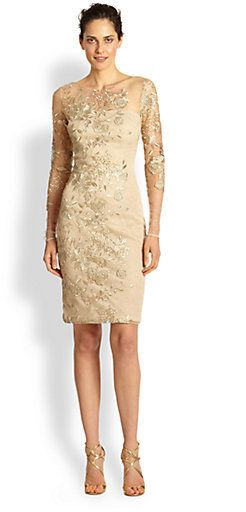 8b742693887 Shop for Embroidered Illusion Cocktail Dress by David Meister at ShopStyle.  Now for Sold Out.