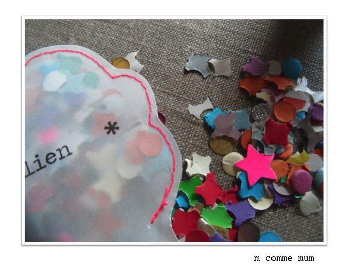 faire part pochettes à confetti nuage