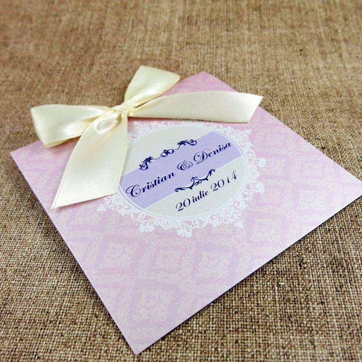 Invitație de nuntă Clarice http://designbyclarice.ro/