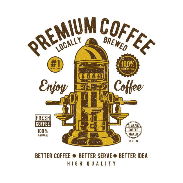 Check out this awesome 'Vintage+Coffee+Machine' design on @TeePublic!