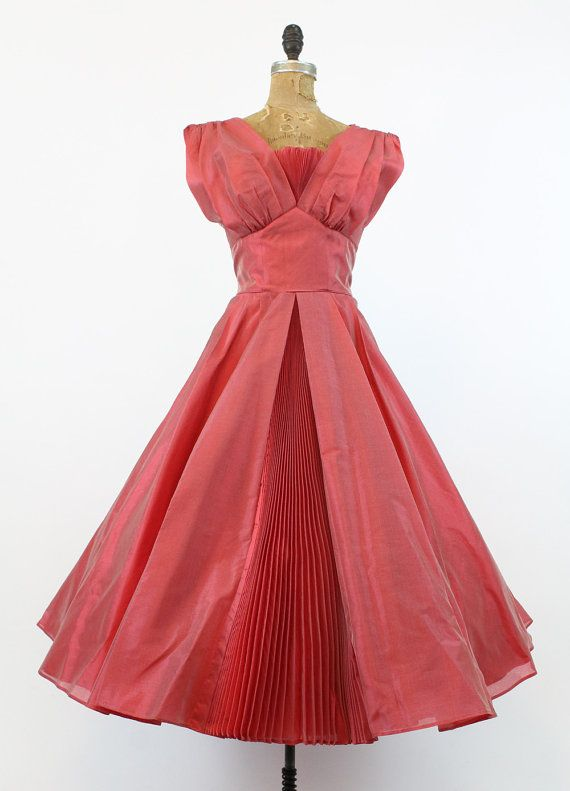 50s Dress Fred Perlberg Small / 1950s Vintage by CrushVintage