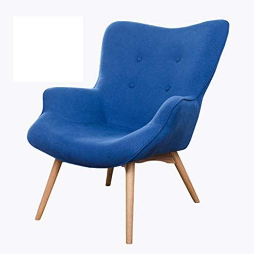 Xingping Nordic Single Sofa Chair Modern Minimalist Small Apartment Casual Tiger Bedroom Balcony Lazy Recliner Color Shire Blue
