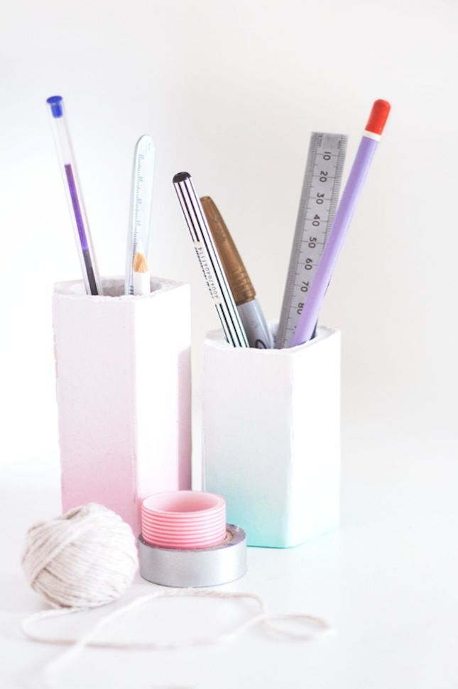 Dress Your Desk With These 15 DIY Pencil Cups via Brit + Co.