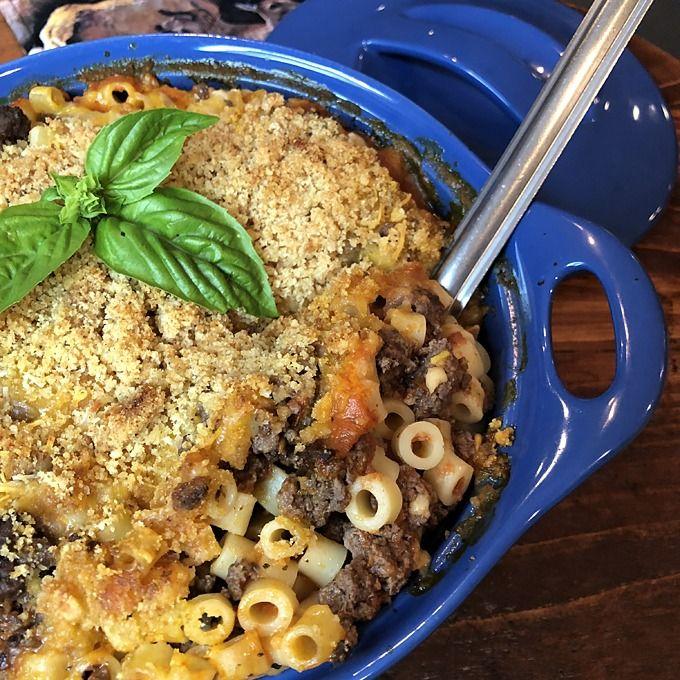 Ground Venison Pasta Bake In 2020 Deer Meat Recipes Ground Venison Venison