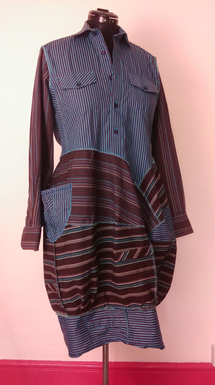 "Stripey ""Pod"" Shirtdress."