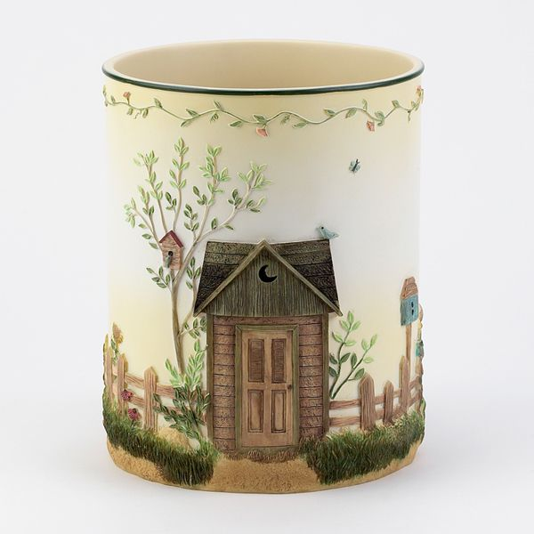 outhouses wastebasket by avanti outhouse decor pinterest bathrooms decor outhouse. Black Bedroom Furniture Sets. Home Design Ideas