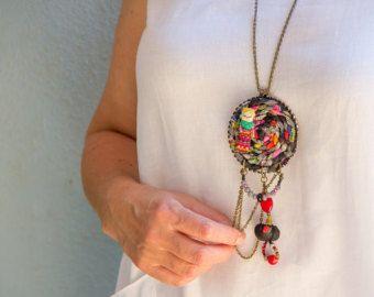 Gioielli di hippy, Festival abbigliamento, divertimento gioielli, collana tribale, gioielli spirituali, collana etnica, Hippie Chic, ciondolo Hippie, Ibiza