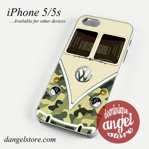 green camo vw retro bus Phone case for iPhone 4/4s/5/5c/5s/6/6 plus