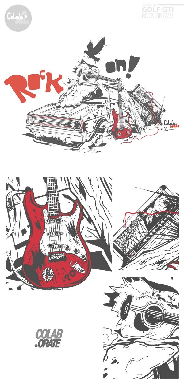 GOLF GTI wreck! by Grzegorz Rauch, via Behance