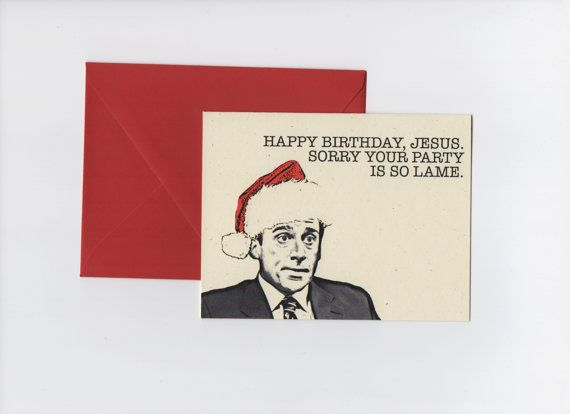 Happy Birthday Jesus // Michael Scott // The by EartherealDesign