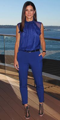 Lush Fab Glam Blogazine: Celebrity Style: Beautiful In Blue Fashions + Stylish Jumpsuits.