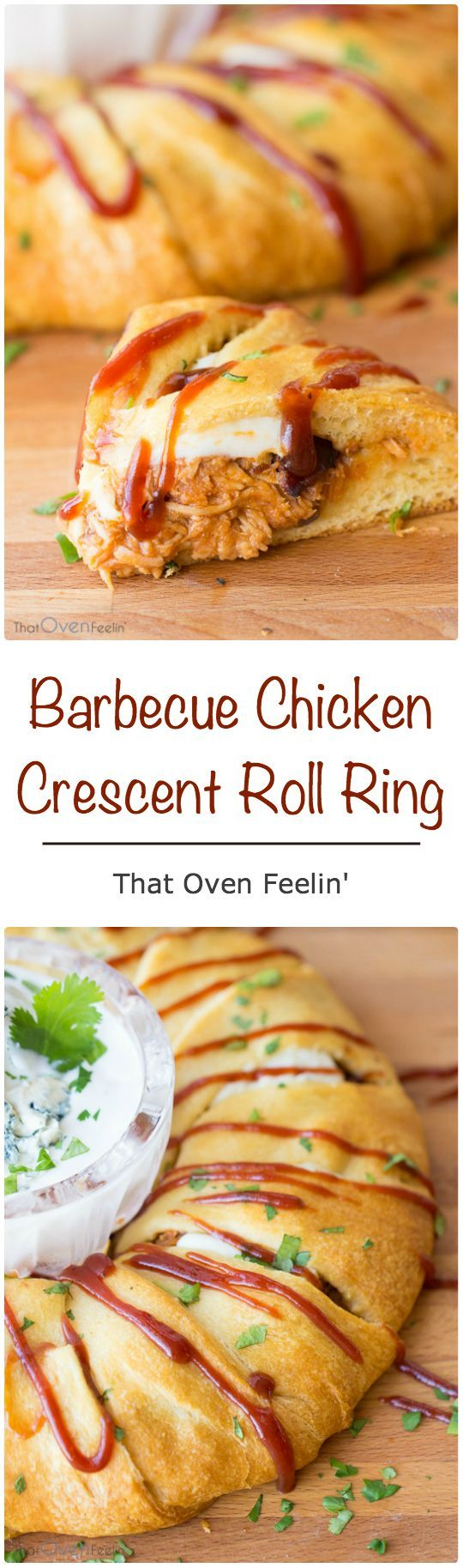 Barbecue Chicken Crescent Roll Ring
