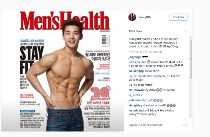 Henry Lau in Men's Health - OMONA THEY DIDN'T! Endless charms ...