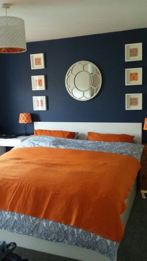 Master bedroom -Dulux gatsby blue paint