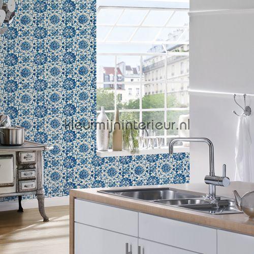 Azulejos tegels met relief behang 962471 AS Creation