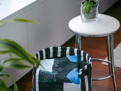 Fabric basket by Montse Llamas.