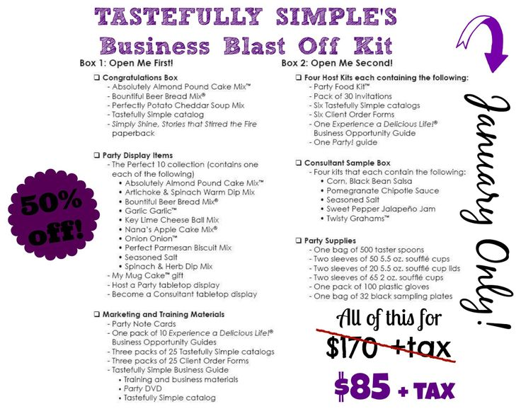 SAY WHAT?! You can join for 1/2 price this month!!!! www.tastefullysimple.com/web/mlong5  Check it out!