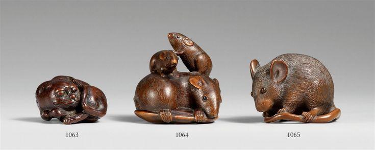 Große Ratte. Buchsbaum. 20. Jh., Auktion 1072 Asiatische Kunst, Lot 1065