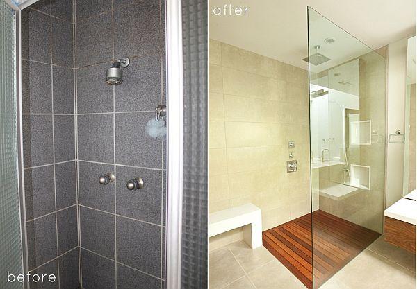 Minimalist small bathroom makeover