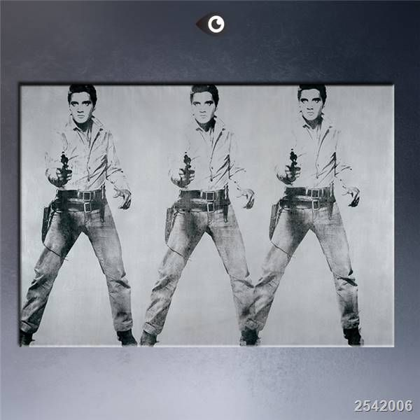 Andy Warhol Eight Elvis 1963 Pop Art Print Wall Painting Picture Home Abstract Decorative Art Picture gift Rectangle Canvas #Affiliate