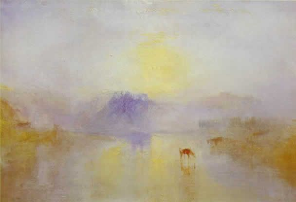 "William Turner. Maestro de atmósferas. ""Norham Castle: amanecer"" Tate Gallery. Londres"