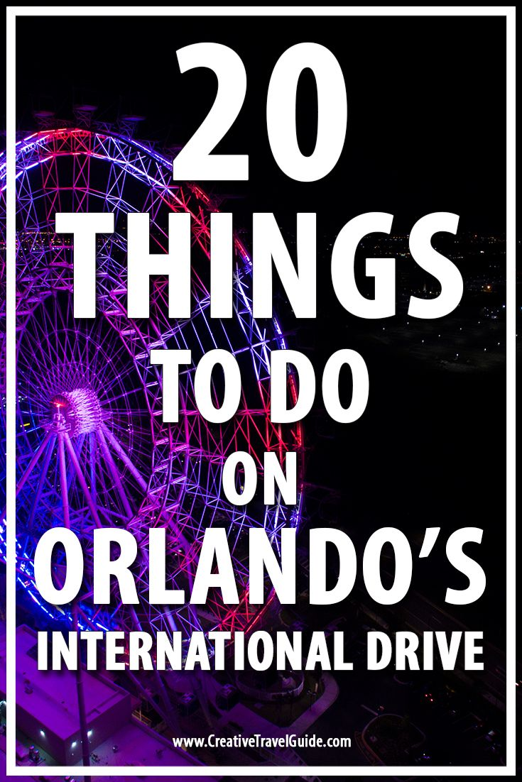 When you're bored of theme parks, why not check out the top things to do on Orlando's International Drive. Suitable for families and couples.
