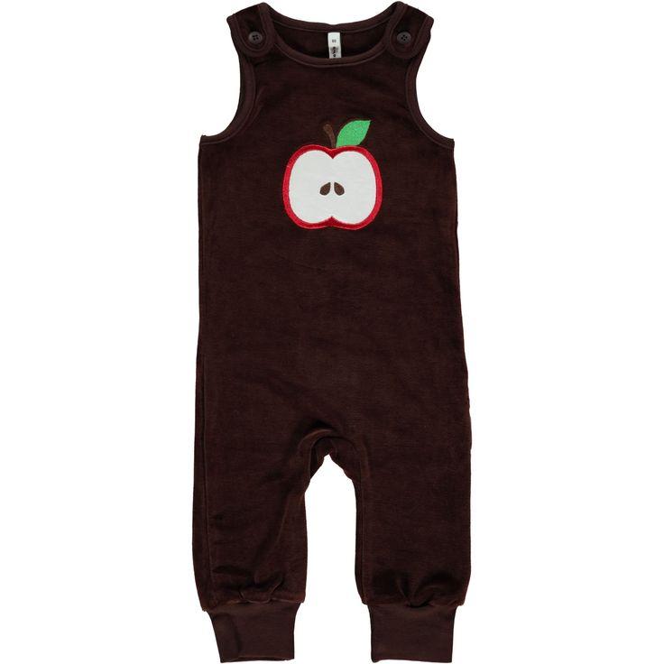 Maxomorra Embroidered Playsuit - Apple